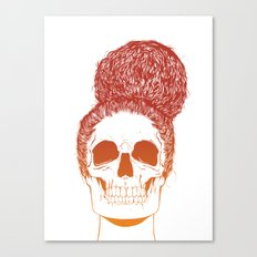 Skull Girl 2 / Burnt Bronze Canvas Print