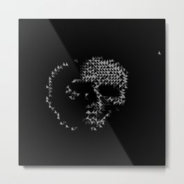 Triangular Skull Metal Print