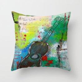 Strum a Song Throw Pillow