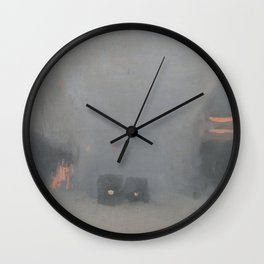 Passing Trams - Clarice Beckett - Australian abstract Realism Wall Clock