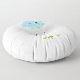 Rain Cloud Floor Pillow