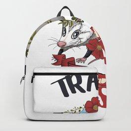 Possum Trashy and Sassy  Live Ugly Opossum Team Trash Backpack