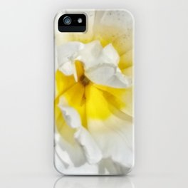 Flower like sunshine on snowy mountains iPhone Case