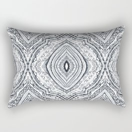 Black & White Diamond Rectangular Pillow