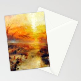 "J. M. W. Turner ""Slavers Throwing overboard the Dead and Dying, Typhon coming on - The slave ship"" Stationery Cards"