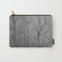 The Lines of Trees in a Whiteout Carry-All Pouch