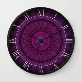 Pink flowers mandala Wall Clock