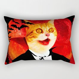 Vampire Cat Rectangular Pillow