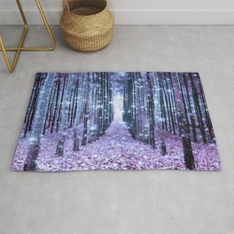 Magical Forest Lavender Ice Blue Periwinkle Rug