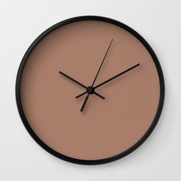 Colors of Autumn Tawny Brown Solid Color Wall Clock