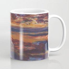 Purple sunset, travel painting Coffee Mug