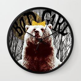 Bad Girl Bear Wall Clock