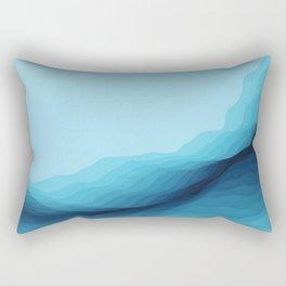 Glacial Crevasse Rectangular Pillow