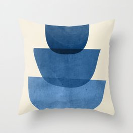 Abstract Shapes 37-Blue Throw Pillow