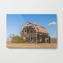Barn House, Wells County, North Dakota 5 Metal Print
