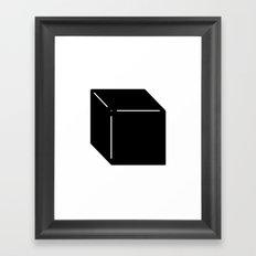 Shapes Cube Framed Art Print