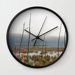 Foggy Lake Wall Clock