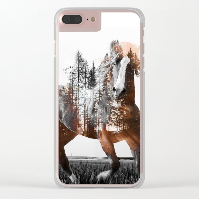 Sunset Rider Clear iPhone Case