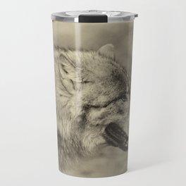lonesome wolf Travel Mug