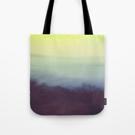 Coastal Landscape Abstract Tote Bag