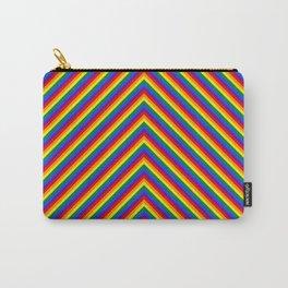 Gay Pride Flag Rainbow Chevron Stripe Carry-All Pouch