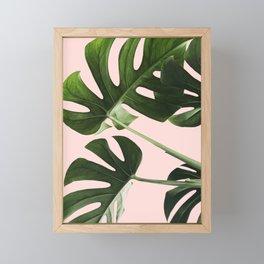 Monstera x Pink Framed Mini Art Print