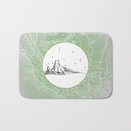 Machu Picchu, Peru, South America - Seven New Wonders Skyline Illustration Drawing Bath Mat