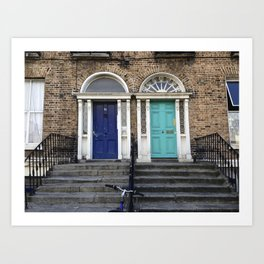 Doors of Dublin Art Print
