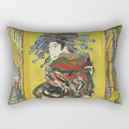 Japonaiserie by Vincent van Gogh Rectangular Pillow