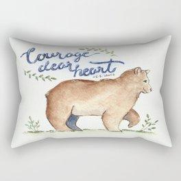 Courage Dear Heart Bear Watercolor Rectangular Pillow