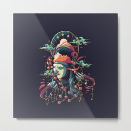 Tari Topeng Metal Print