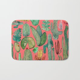 Summer Nature in Pink Bath Mat