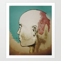 human Art Prints featuring Human by Tyler Hayes