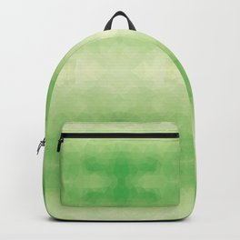 Mozaic design in soft green colors Backpack