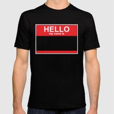 HELLO my name is... LARGE Mens Fitted Tee Black