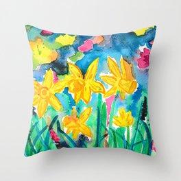 Magical Daffodils Throw Pillow