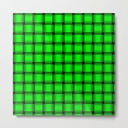 Neon Green Weave Metal Print