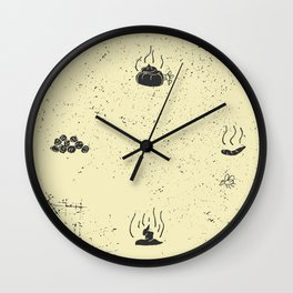 The Happy Shit and Flies Wall Clock