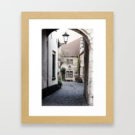 A quaint alley in the beguinage Framed Art Print