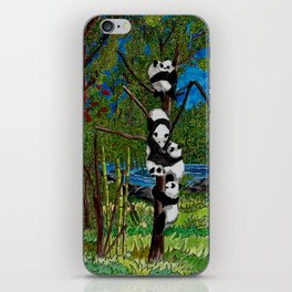Six Baby Pandas in a Tree iPhone Skin