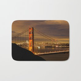 Golden Gate Bridge at Night Bath Mat