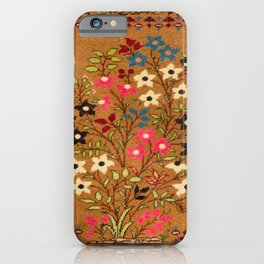 Kashan Vintage Central Persian Mat Print iPhone Case