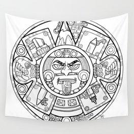 Pencil Wars Shield Wall Tapestry