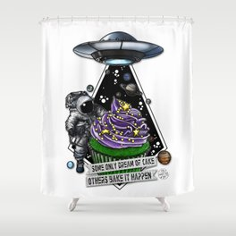Good For Muffin Space Cake Shower Curtain