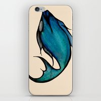 swimming iPhone & iPod Skins featuring Swimming by Arianna Fisher