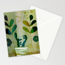 Yellow garden Stationery Cards