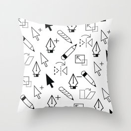 Illustrator Tools Throw Pillow