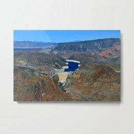 Hoover Dam Pat Tillman Bridge Arizona Nevada America Metal Print