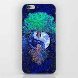 Tree of Life Yin Yang Earth Space iPhone Skin