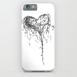 Inkling of Heart in black & white iPhone Case